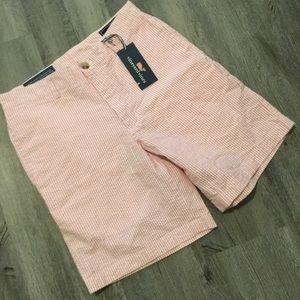 Vineyard Vines pink white seersucker Shorts 28
